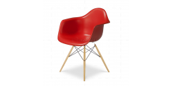 Eames Style Dining DAW Arm Chair RED - Replica