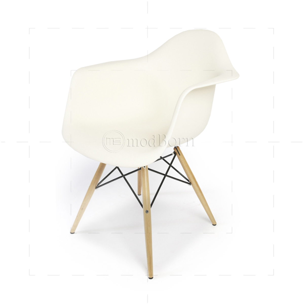Eames style dining daw arm chair white replica for Eames chair replica uk