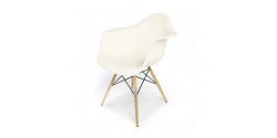 Eames Style Dining DAW Arm Chair White - Replica