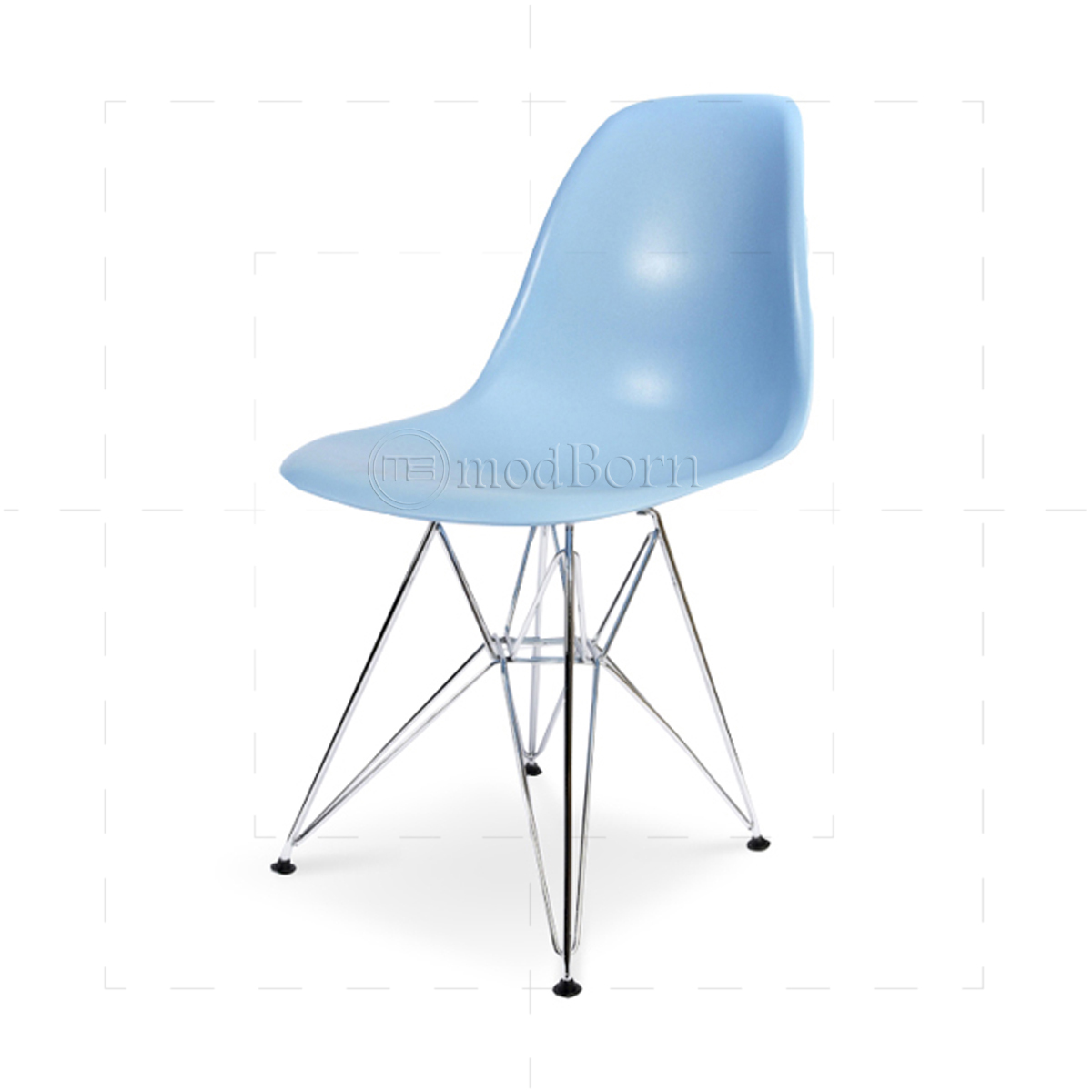 Eames style dining dsr eiffel chair blue replica for Eames chair replica deutschland