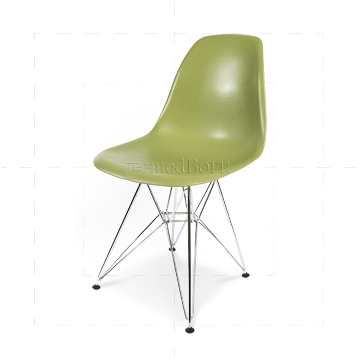 Eames style dining dsr eiffel chair green replica for Reproduction chaise eames