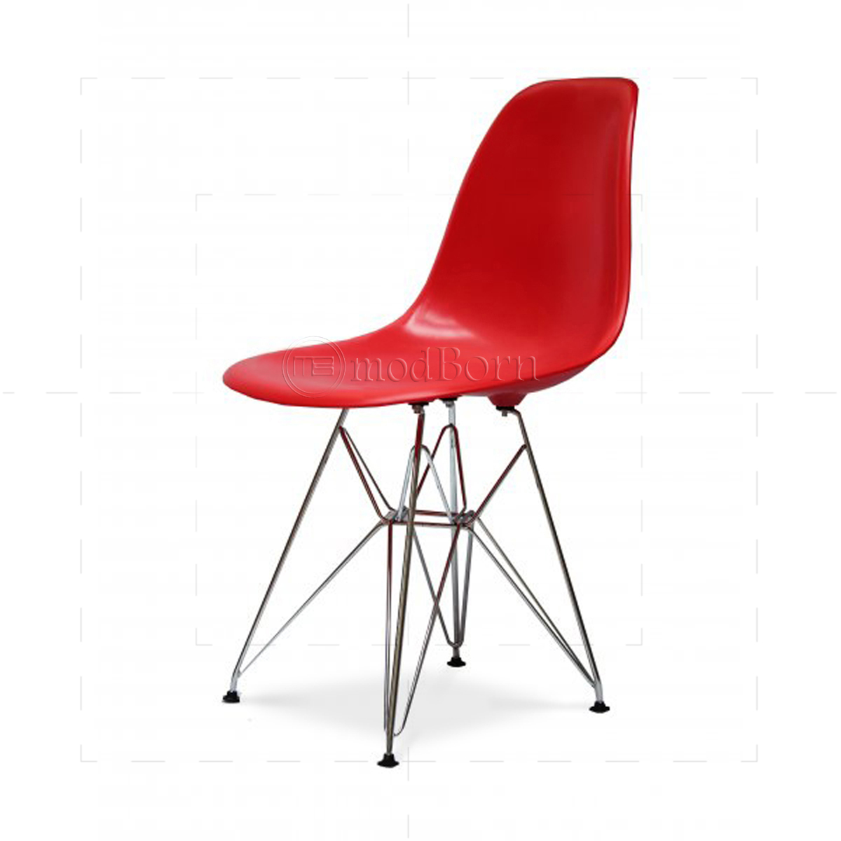 Eames style dining dsr eiffel chair red replica for Eames replica deutschland