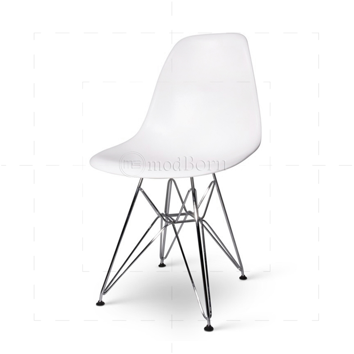Eames style dining dsr eiffel chair white replica for Eames replica deutschland