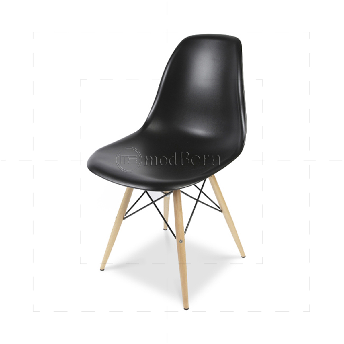 Eames style dining dsw chair black replica for Eames dsw replica