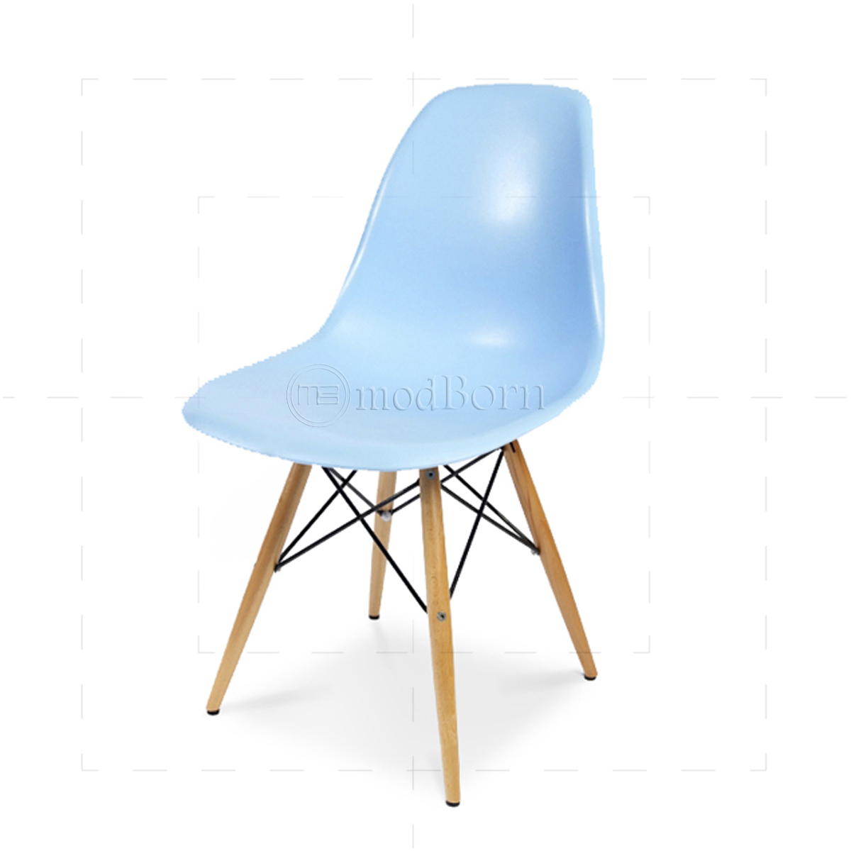 Eames style dining dsw chair blue for Chaise dsw eames