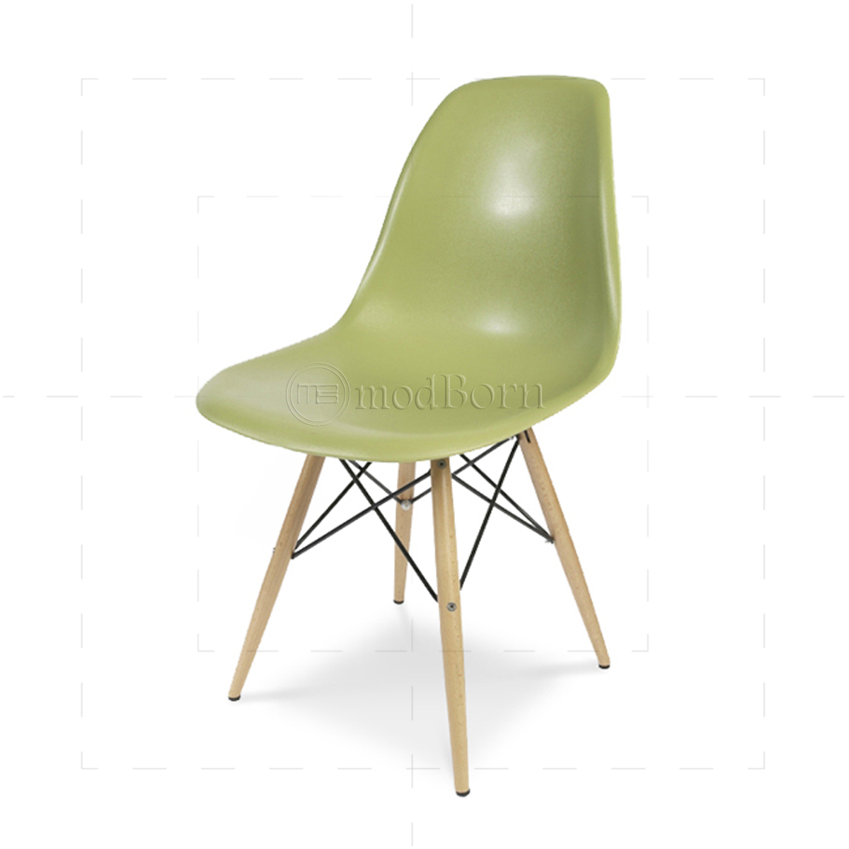 eames style dining dsw chair green