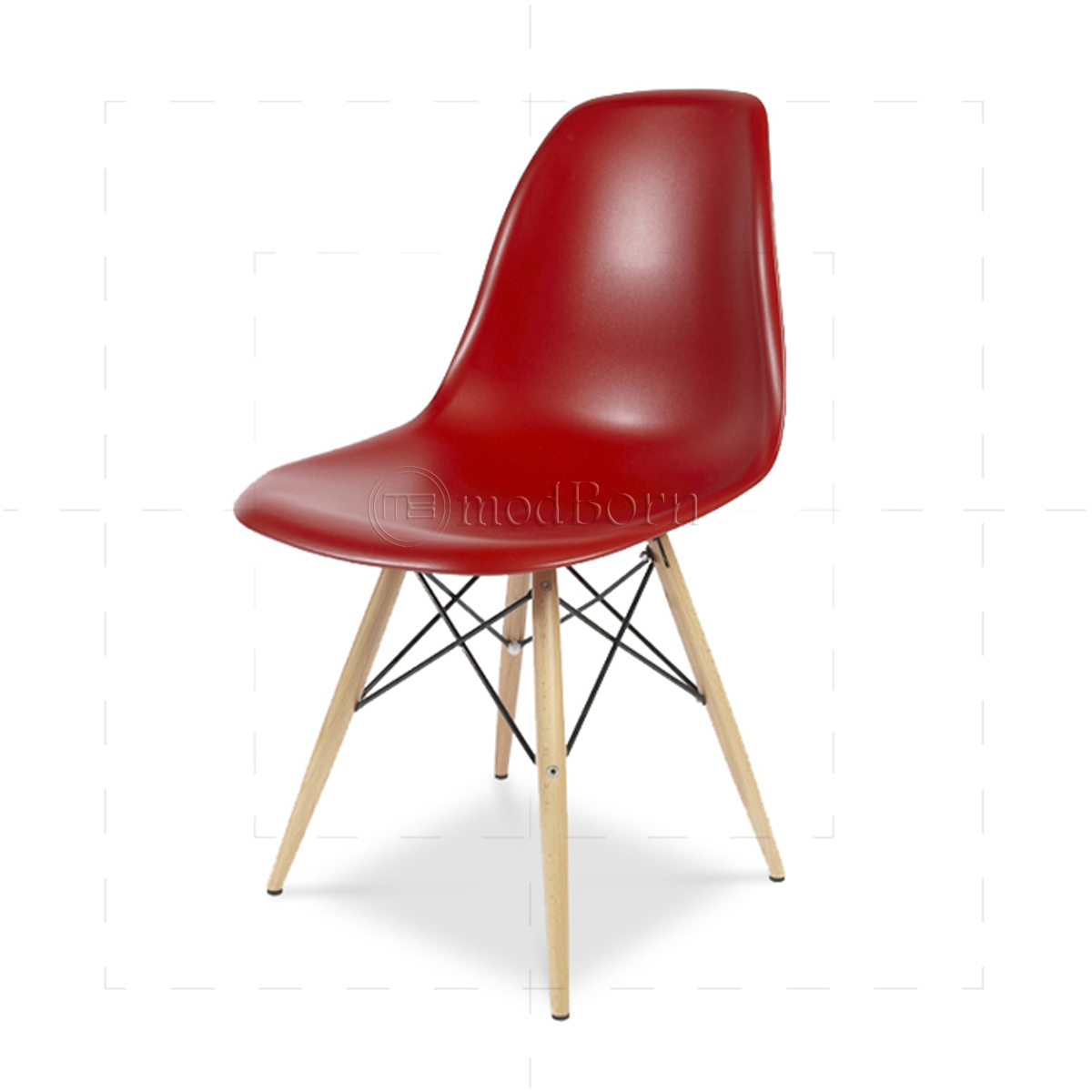 Eames style dining dsw chair red replica for Eames replica deutschland