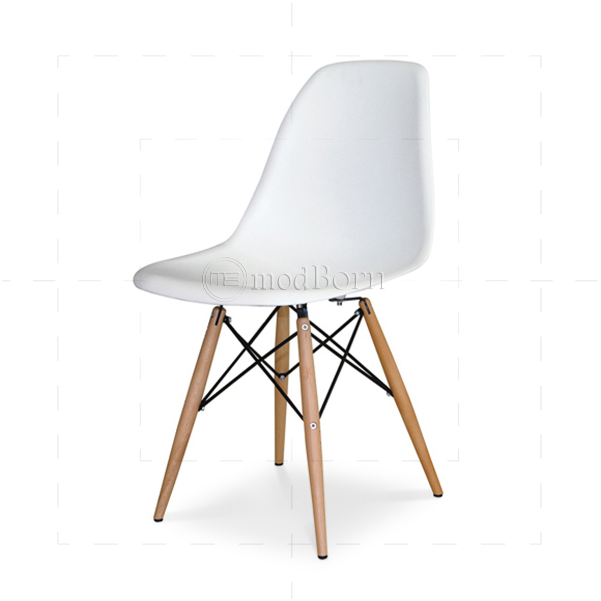 Eames style dining dsw chair white replica for Table eames dsw