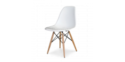 Eames style dining dsr eiffel chair white for Chaise eames dsw transparent