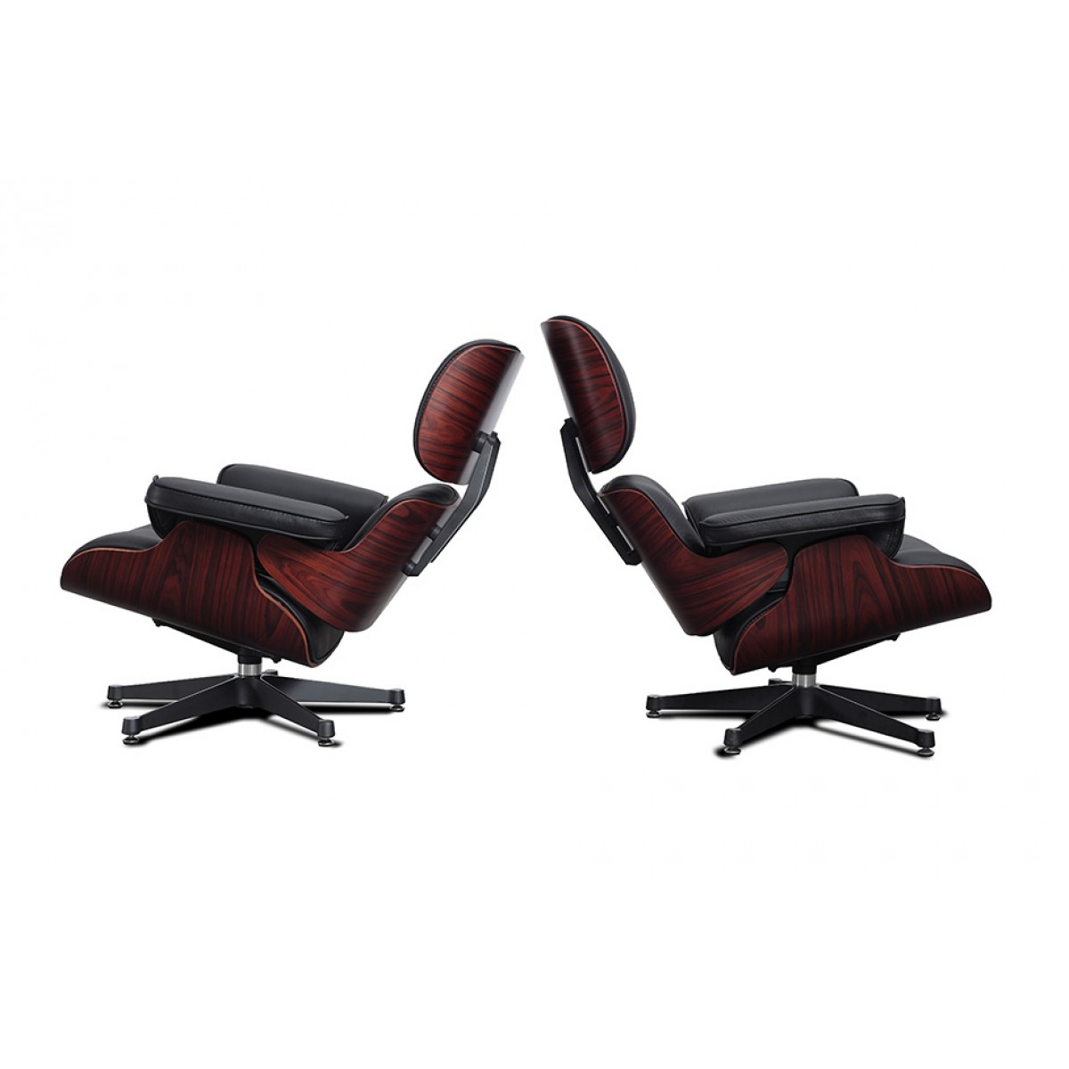 Eames Style Lounge Chair and Ottoman Black Leather  : standard taller version eames lounge chair 1200x1200 from www.modborn.com size 1200 x 1200 jpeg 79kB