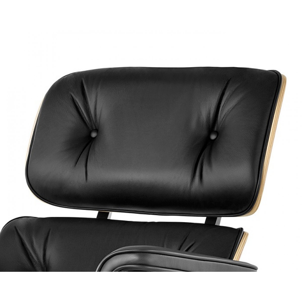 eames style lounge chair and ottoman black leather oak. Black Bedroom Furniture Sets. Home Design Ideas