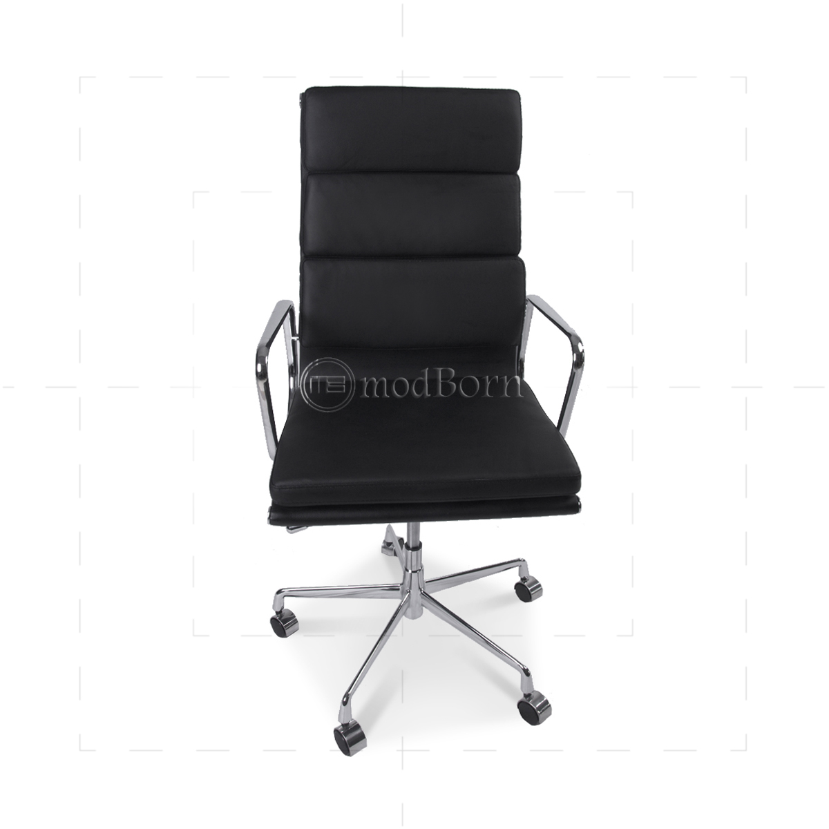 ea219 eames style office chair high back soft pad black leather replica. Black Bedroom Furniture Sets. Home Design Ideas