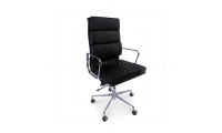Office Chair High Back Soft Pad Black Leather