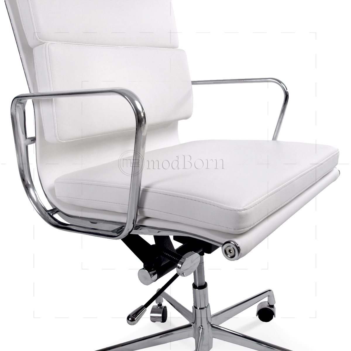 ea219 eames style office chair high back soft pad white leather bedroomsweet eames office chair replicas style