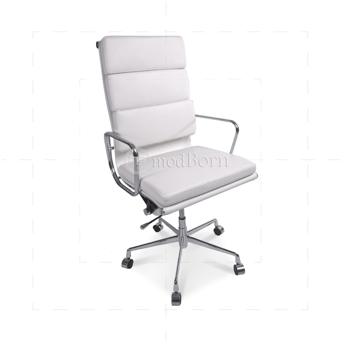 EA219 Eames Style Office Chair High Back Soft Pad White ...