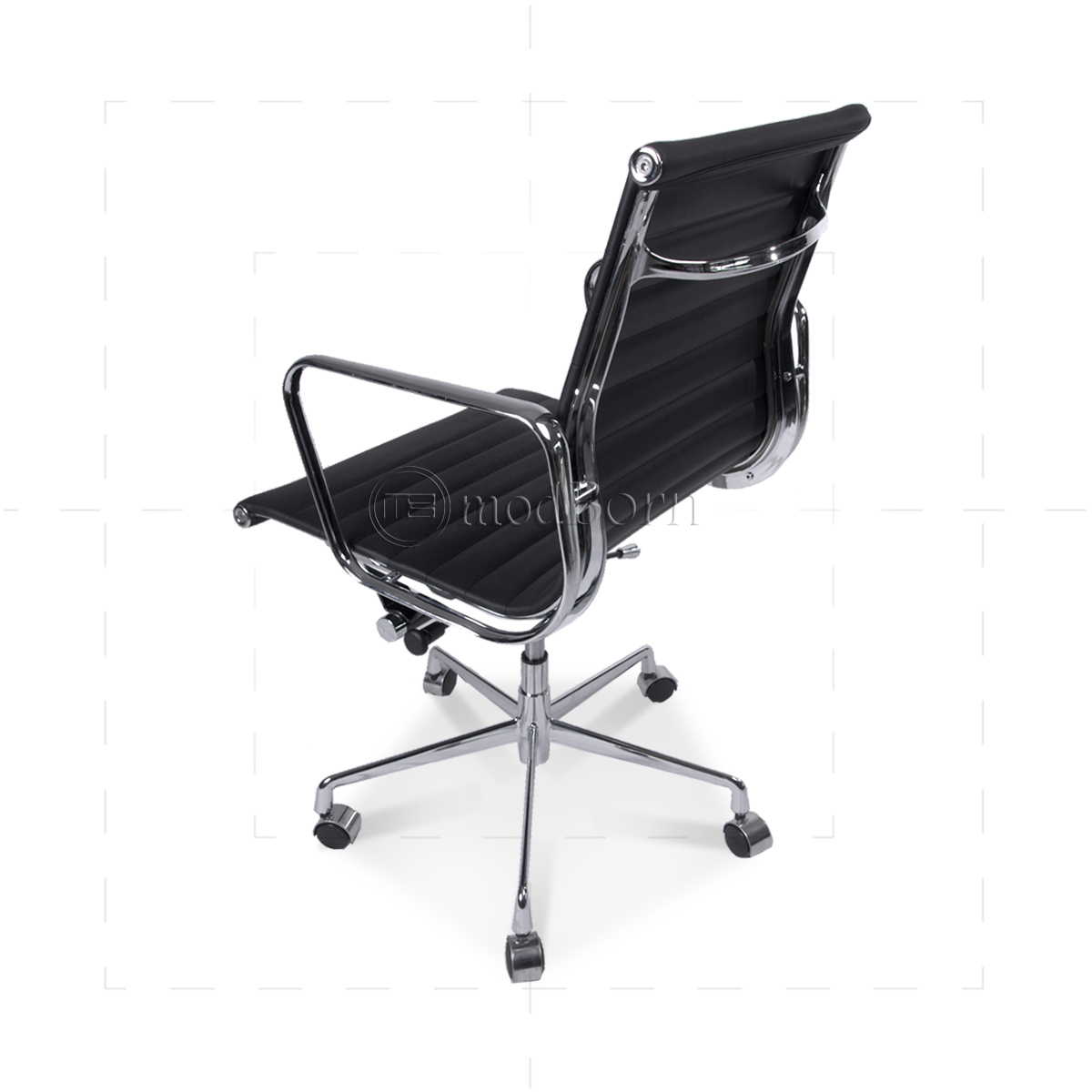 ea117 eames style office chair low back ribbed black leather bedroomsweet eames office chair replicas style