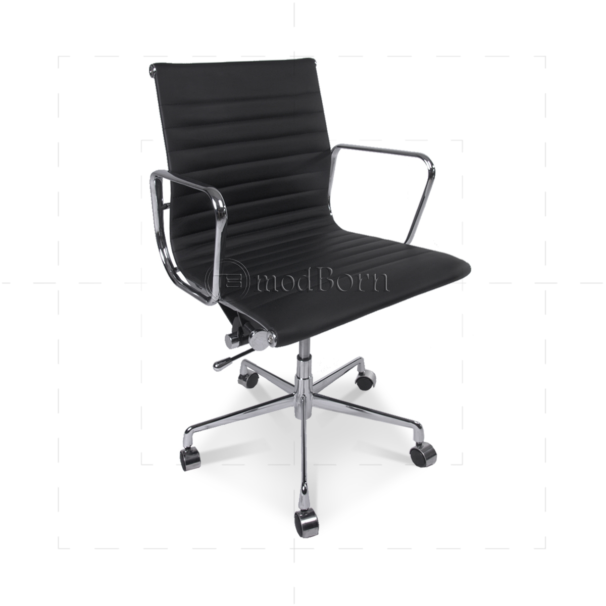 EA117 Eames Style Office Chair Low Back Ribbed Black Leather : eames office lowback black sideview 1200x1200 from www.modborn.com size 1200 x 1200 jpeg 272kB