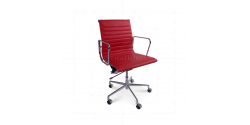 Eames Office Chair Ribbed RED