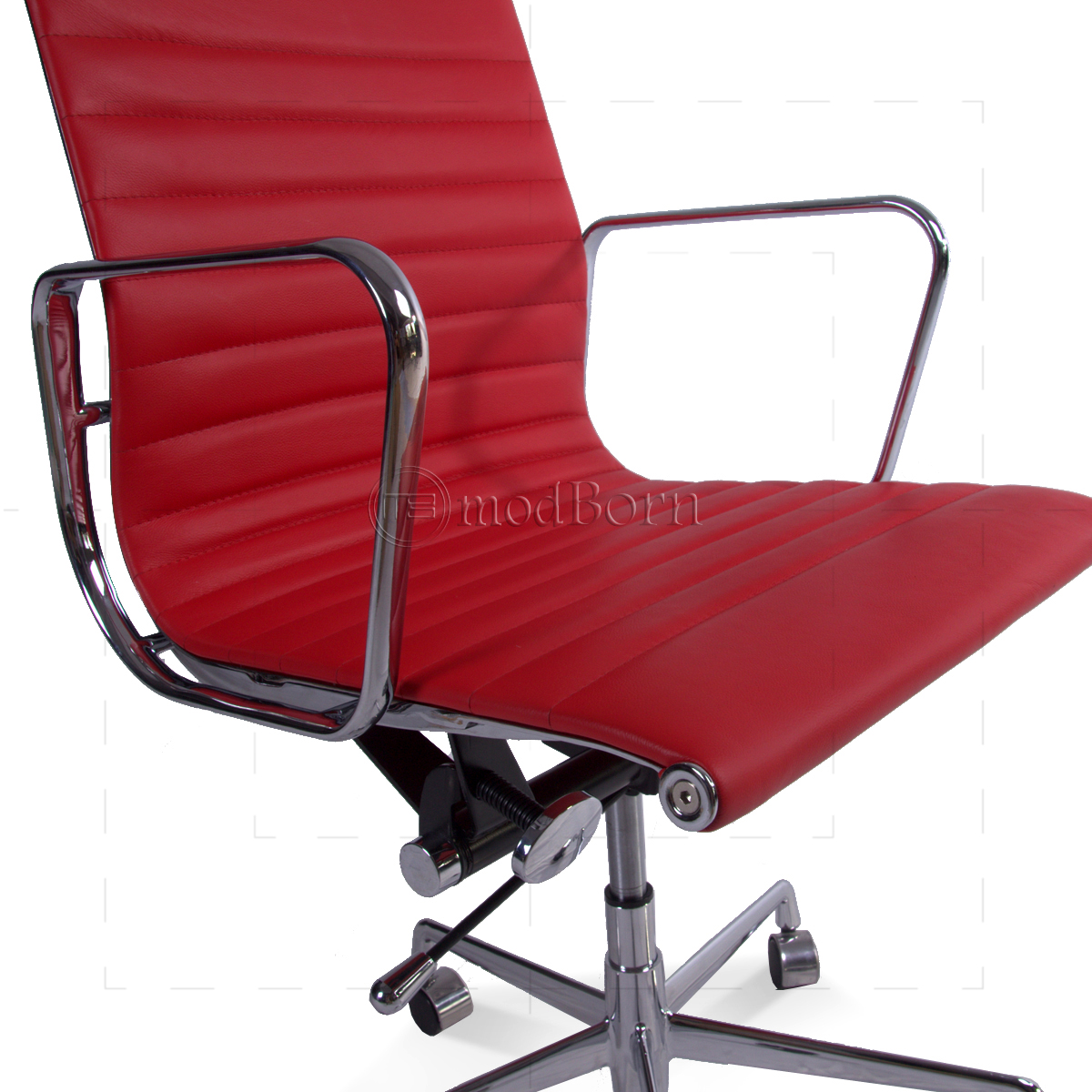 EA117 Eames Style Office Chair Low Back Ribbed Red Leather  : eames officechair lowback red closeup 1200x1200 from www.modborn.com size 1200 x 1200 jpeg 716kB