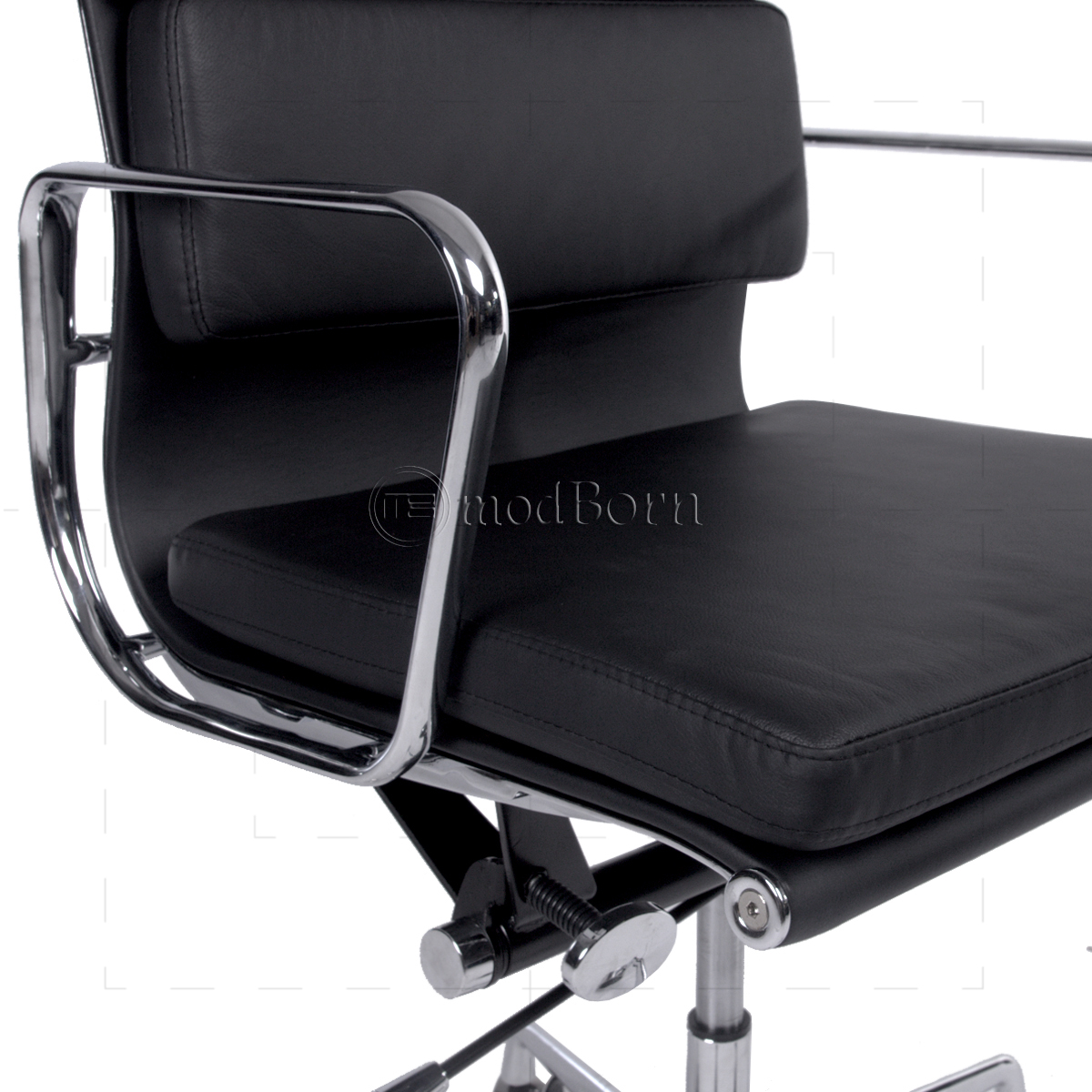 Ea217 Eames Style Office Chair Low Back Soft Pad Black