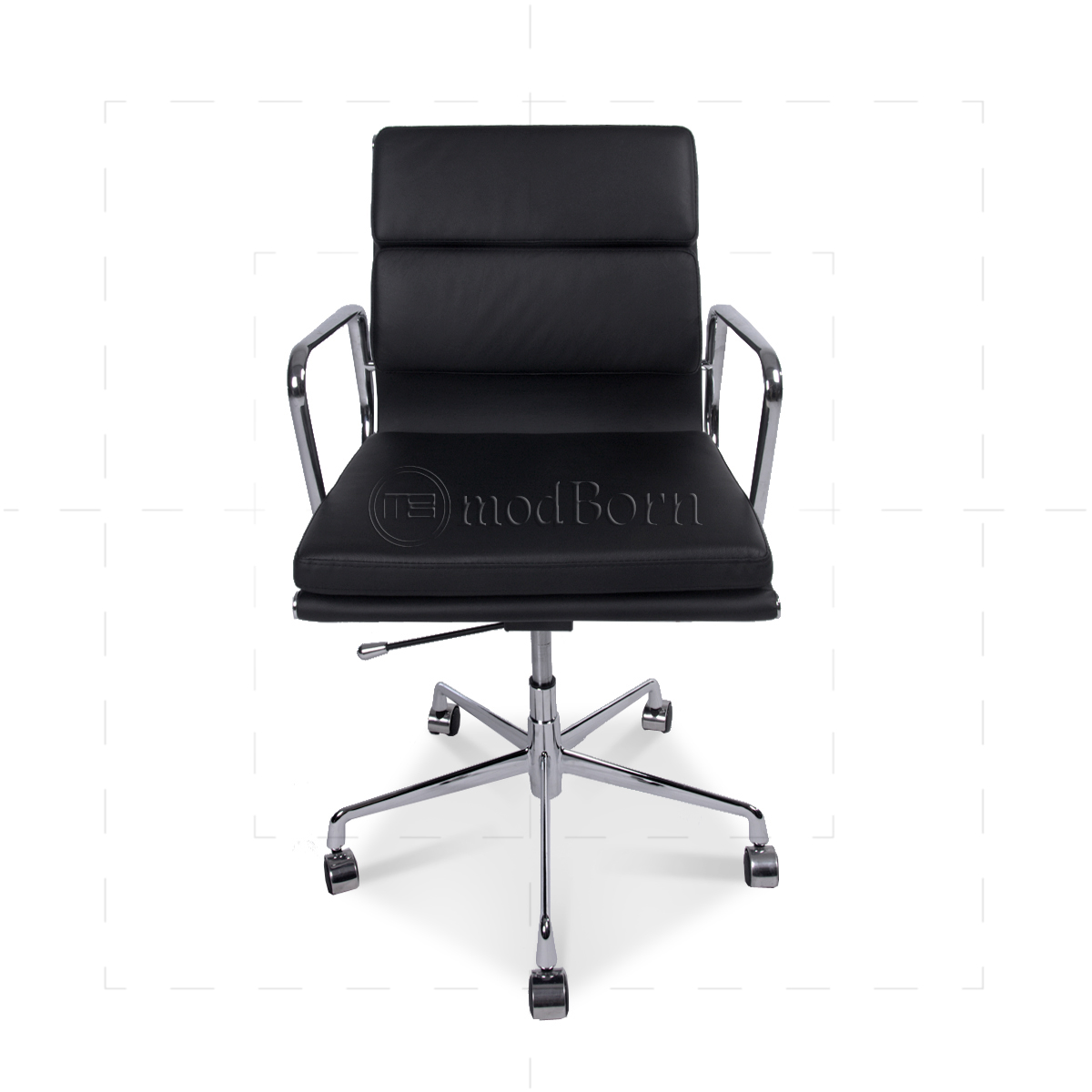 ea217 eames style office chair low back soft pad black. Black Bedroom Furniture Sets. Home Design Ideas