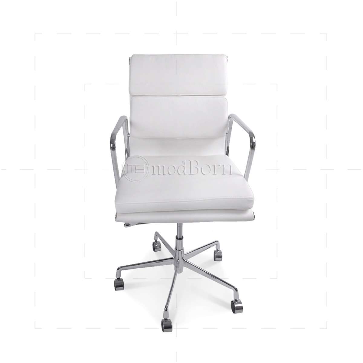 Free Delivery Baresi White Leather Executive Office Chair