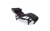 Le Corbusier Style LC4 Chaise Longue Brown Leather