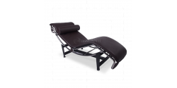 Le Corbusier Style LC4 Chaise Lounge Brown Leather