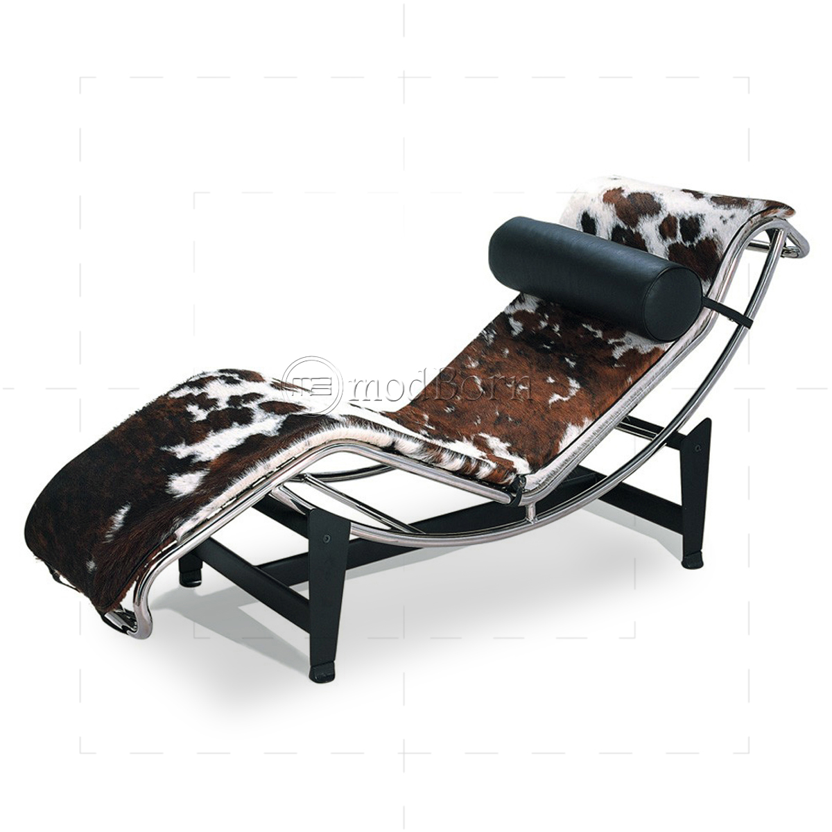 Le corbusier style lc4 chaise longue pony leather replica for Chaise lounge corbusier