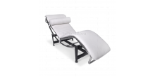 Le Corbusier Style LC4 Chaise Longue  White Leather - Replica