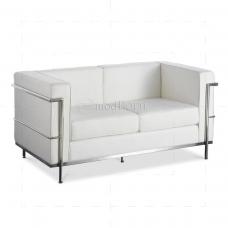 Le Corbusier Style LC2 Sofa 2 Seater white Leather - Replica