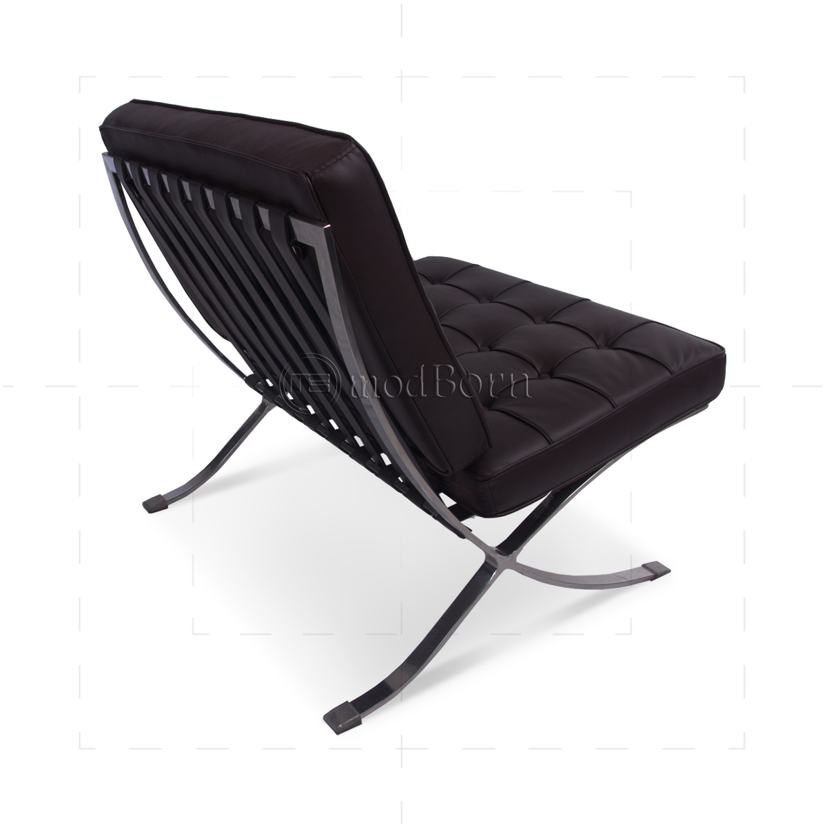 Ludwig mies ven der rohe barcelona style chair brown for Barcelona chair replica deutschland