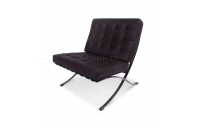 Ludwig Mies Ven Der Rohe  Barcelona Style Chair Brown Leather