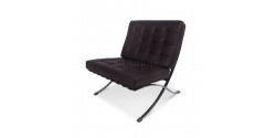 Ludwig Mies Ven Der Rohe  Barcelona Style Chair Brown Leather - Replica