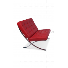 Ludwig Mies Ven Der Rohe  Barcelona Style Chair Red Leather - Replica