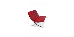 Barcelona Inspired Chair Red Leather