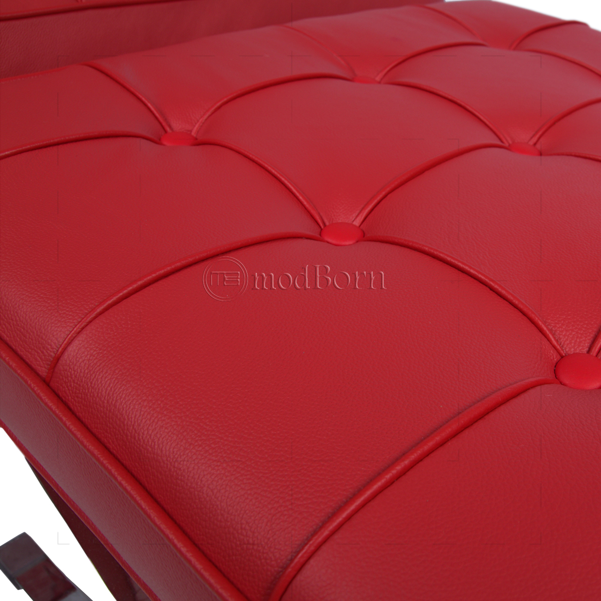 Barcelona Chair Style Mies Ven Der Rohe Barcelona Style Chair Red Leather