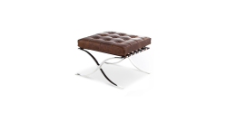 Ludwig Mies van der Rohe Barcelona Style Ottoman VINTAGE Brown Leather - Replica