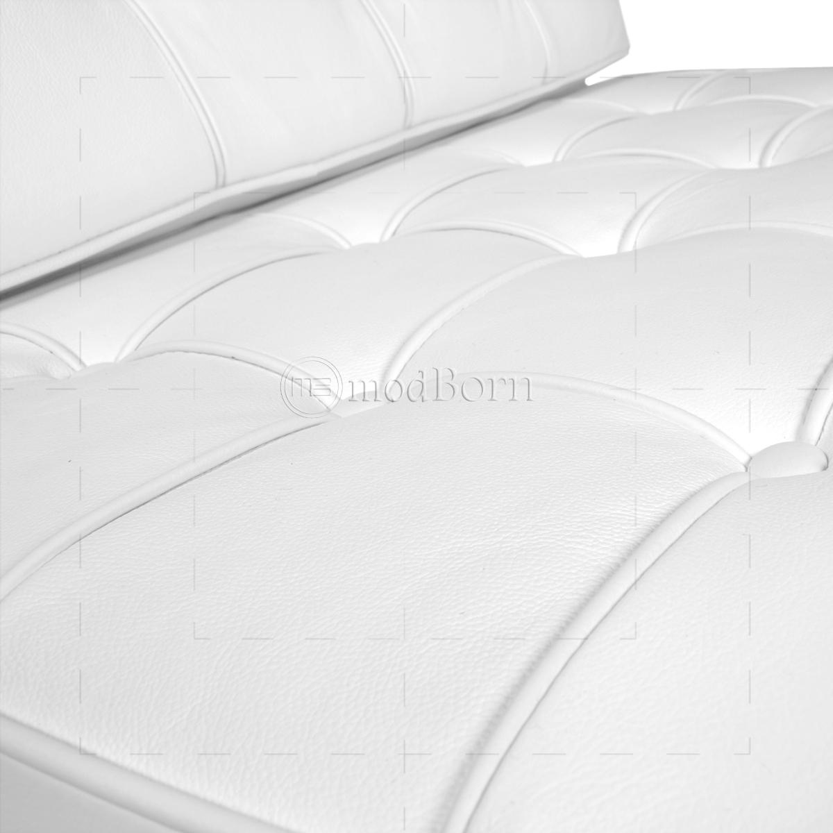 Mies Van Der Rohe Chair White - Ludwig mies van der rohe barcelona style chair white leather