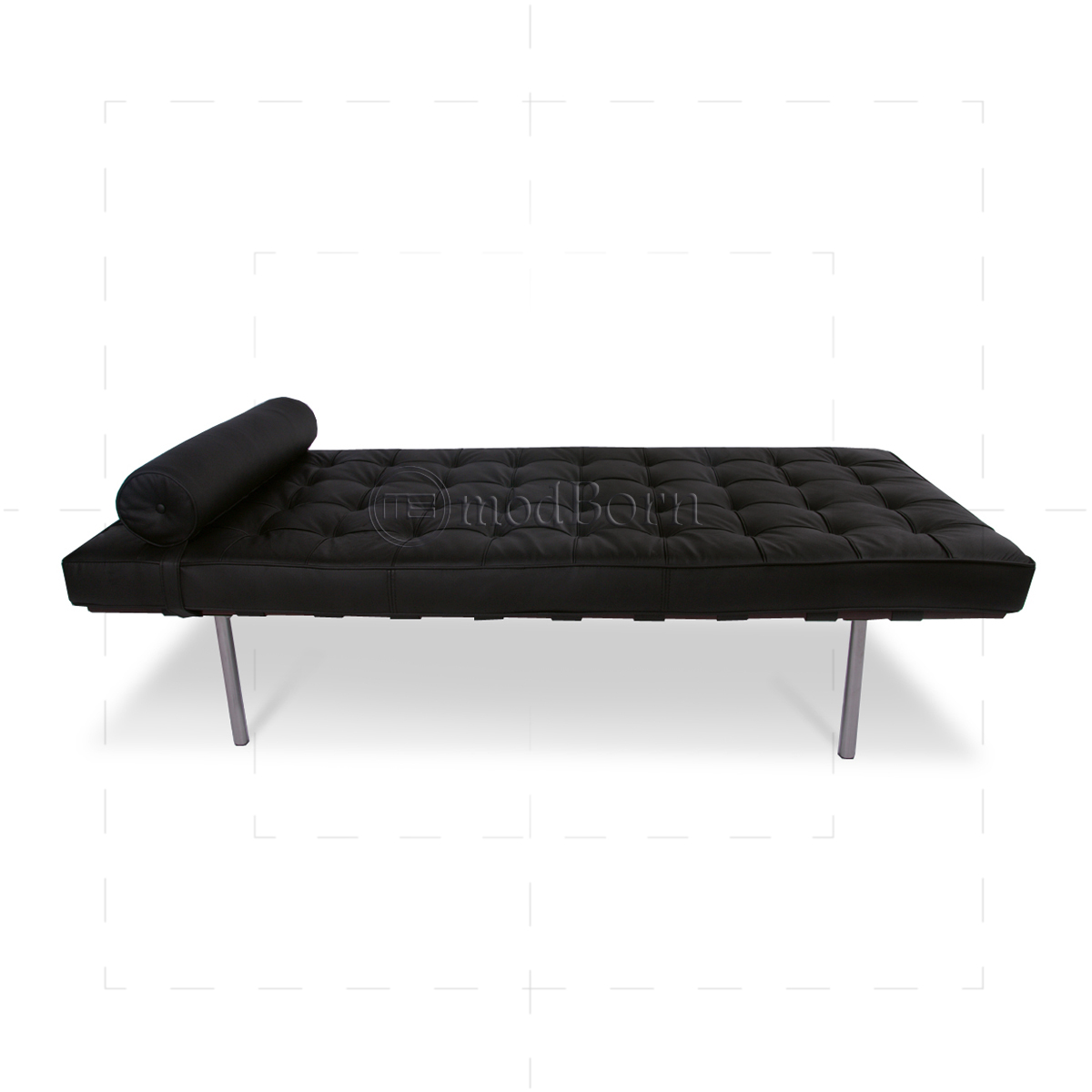 Ludwig mies van der rohe barcelona style day bed black for Mies van der rohe replica
