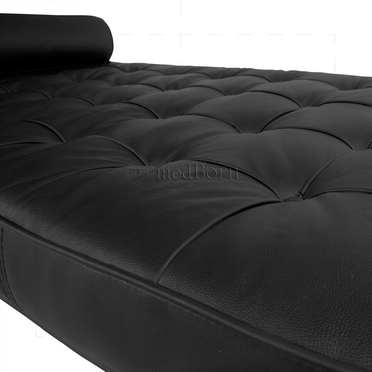 ludwig mies van der rohe barcelona style day bed black leather. Black Bedroom Furniture Sets. Home Design Ideas