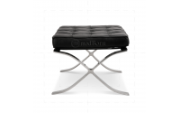 Ludwig Mies Ven Der Rohe  Barcelona Style Ottoman Black Leather - Replica