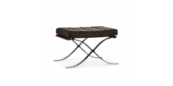 Ludwig Mies van der Rohe Barcelona Style Ottoman Brown Leather - Replica
