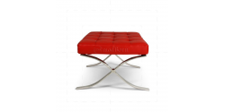 Ludwig Mies van der Rohe Barcelona Style Ottoman Red Leather - Replica