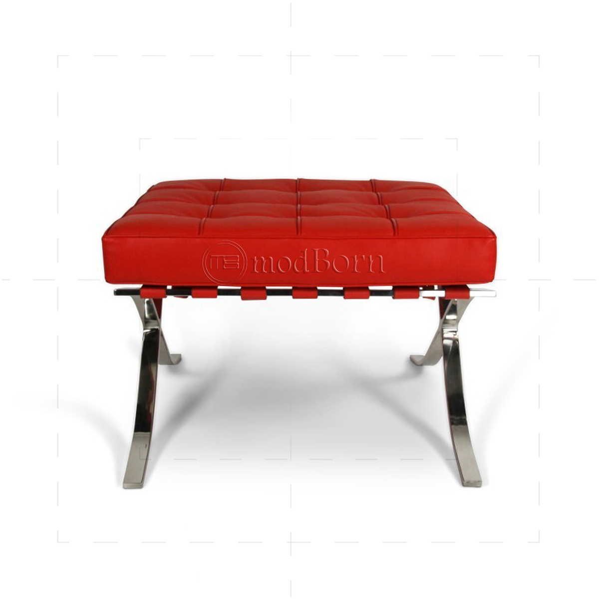 Ludwig mies van der rohe barcelona style ottoman red for Barcelona chair replica deutschland