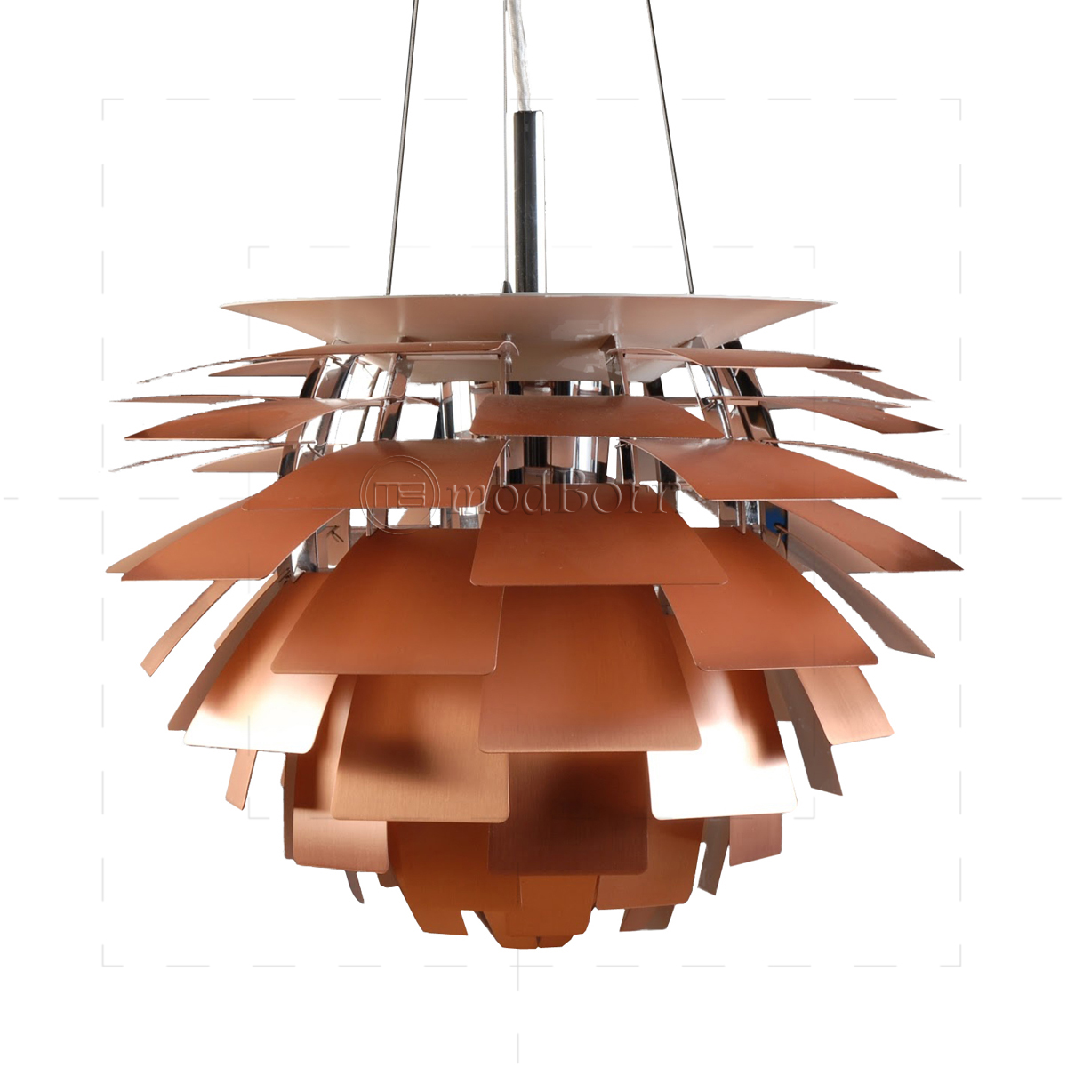 poul henningsen style artichoke lamp copper 48cm replica. Black Bedroom Furniture Sets. Home Design Ideas