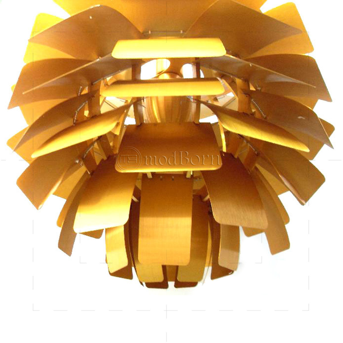 poul henningsen style artichoke lamp gold replica. Black Bedroom Furniture Sets. Home Design Ideas