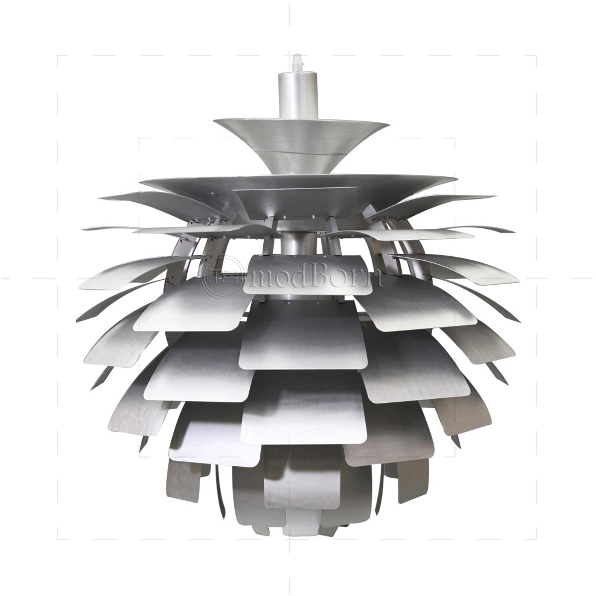 poul henningsen style artichoke lamp silver. Black Bedroom Furniture Sets. Home Design Ideas